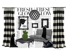 A home decor collage from December 2016 featuring black furniture, mahogany furniture and black and white lamp. Browse and shop related looks. Cat Room, Interior Decorating, Interior Design, Urban Outfitters, My Arts, David, Interiors, Polyvore, Home Decor