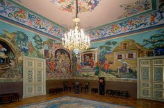 Image:: The interior of Anichkov Palace, the favorite palace of Alexander III and Marie Feodorovna | the palace got its name in 1715 in honor of major Anichkov who built the bridge through Neva river. In 1741 Elizabeth I ordered the construction of palace that she later presented to her favor and morganatic husband Count Alexey Razumovskiy. Since that time the palace became a traditional wedding present of the Romanovs. Future Alexander III got it in 1860s and it became his beloved house.