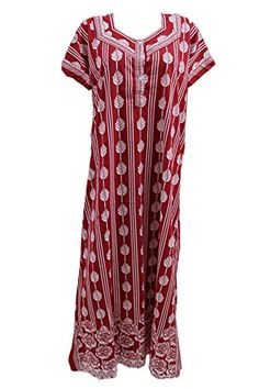 Odishabazaar Women s Cotton Long Printed Nightgown Sleepwear at Amazon  Women s Clothing store  dfb71133b
