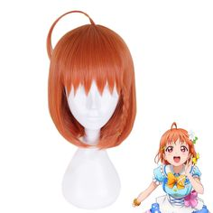 5ee6a835c Anime LoveLive Sunshine Takami Chika Wig Cosplay Costume Love Live Aqours  Women Synthetic Hair Halloween Party Role Play Wigs