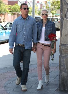 gewn stefani with husband