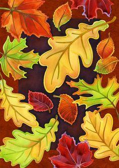 Toland Home Garden Leafy Leaves Flag