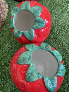 These adorable strawberry planters are perfect for a summer home makeover. Strawberry Planters, Squirrels, Christmas Gifts, Seasons, Gift Ideas, Summer, Home, Chipmunks, Xmas Gifts