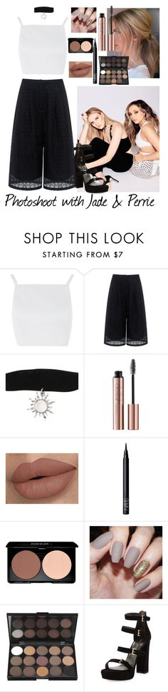 """Photoshoot with Jade and Perrie"" by moansforlilo ❤ liked on Polyvore featuring Topshop, Edit, NARS Cosmetics, Stuart Weitzman, littlemix, blackandwhite, jadethirlwall, perrieedwards and photoshoot"