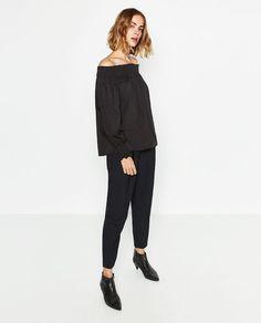 Image 1 of OFF-SHOULDER BLOUSE from Zara
