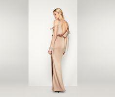 Dark Tan The Libra Dress | Fame & Partners USA