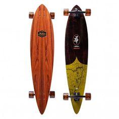 Nijdam Longboard 42 Kicktail Bamboo Totem Triumph Black Red