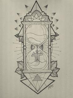 drawn hourglass - Google Search