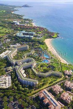Aerial of Grand Wailea Resort and Four Seasons, Wailea, Maui, Hawaii
