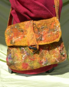 Wet Felted Sunset Purse by jkstein123 on Etsy, $95.00