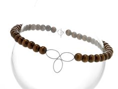 sterling and wood necklace