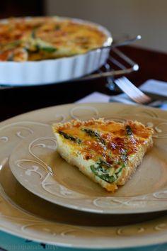 pomegranate days: Humble asparagus quiche (/ˈkiːʃ/ keesh)
