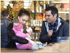 jessica alba with family go shopping for christmas day