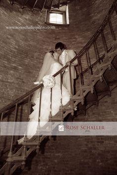 Lighthouse Wedding Photo Block Island
