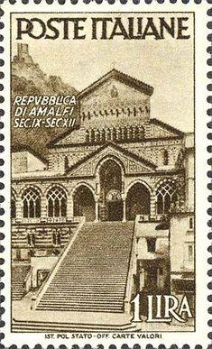 Emesso il 31 ottobre 1946 1 L. - Duomo di Amalfi