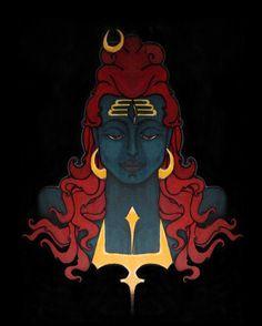 May Lord Shiva Answer all your prayers on Mahashivratri & always. Shiva Linga, Mahakal Shiva, Shiva Art, Hindu Art, Lord Krishna, Indian Illustration, Lord Shiva Hd Images, Spiritual Paintings, Lord Shiva Hd Wallpaper