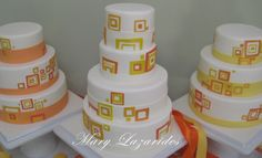 Another great mod cake, this one with retro squares