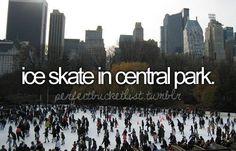 Ice skate in Central Park. Bucket List