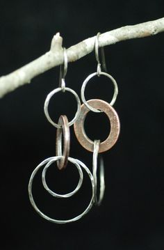 Mixed Metal Hoops by MaggieJs on Etsy, $60.00