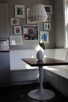 Modern Kitchen! Custom built banquette