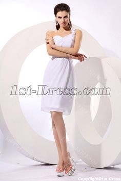 1st-dress.com Offers High Quality Charming White One Shoulder Graduation Dresses,Priced At Only US$125.00 (Free Shipping)