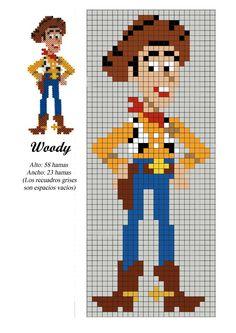 Woody toy story x-stitch