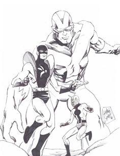 Hank Pym, Ant-Man, Yellowjacket, and Goliath by Steve Lightle