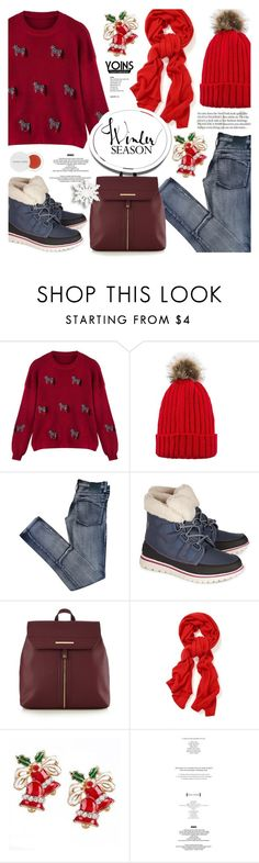 """Cozy Chic - Yoins"" by anyasdesigns ❤ liked on Polyvore featuring Cheap Monday, SOREL, Red Herring, StyleNanda and Herbivore"