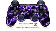 Amazon.com: Sony PS3 Controller Decal Style Skin - Electrify Purple: Video Games