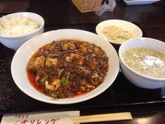 麻婆豆腐定食( ̄(エ) ̄)v