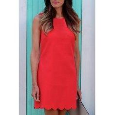trendsgal.com - Trendsgal Round Collar Candy Color Summer Dress For Women - AdoreWe.com