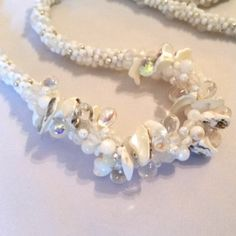 Summer White Necklace. Perfect with every outfit.
