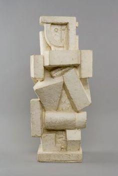 Fondation Giacometti - Alberto Giacometti - [Cubist Figure I] Plaster coated with a parting compound, 24,99 x 10,98 x 10,03 in. Fondation Alberto et Annette Giacometti 1994-0481