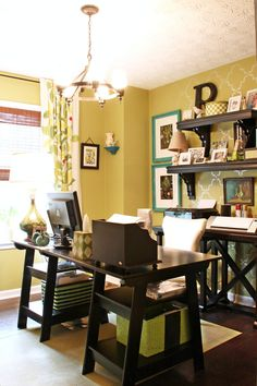 Pretty office makeover + organization @southernrhoda