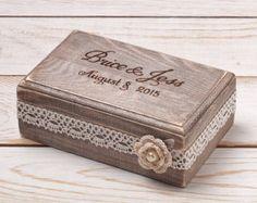 Ring Bearer Box Wedding Ring Box Ring by InesesWeddingGallery