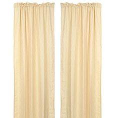 Colton Cream Curtain Panel, Set of 2 | Kirklands
