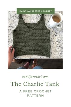 A free tank top crochet pattern by EvelynAndPeter. Uses Merino Silk Cotton from Lion Brand. A free tank top crochet pattern by EvelynAndPeter. Uses Merino Silk Cotton from Lion Brand. T-shirt Au Crochet, Pull Crochet, Mode Crochet, Crochet Woman, Diy Crochet Top, Crochet Edgings, Diy Crochet Clothes, Crochet Slippers, Crotchet