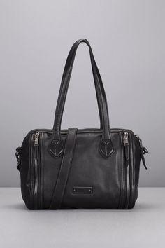 Sac noir cuir poches zippées Pretty Liebeskind sur MonShowroom.com