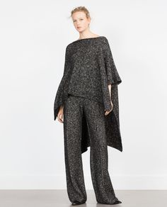 Image 1 of WIDE TROUSERS from Zara