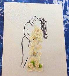 canvas art watercolour painting on canvas wedding by PetalcraftArt