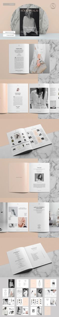 Södermalm Magazine Template on Behance. - a grouped images picture - Pin Them All Web Design, Graphic Design Layouts, Page Design, Layout Design, Print Design, Design Editorial, Editorial Layout, Editorial 2017, Layout Inspiration