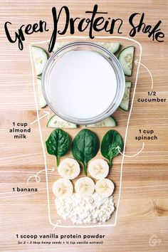 7. Green Protein Shake #greatist http://greatist.com/eat/simple-smoothie-recipes simple detox smoothie