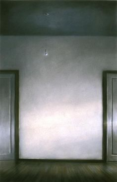 "Norman Lundin. ""60th Street Studio: Corridor"", 1985, pastel, 44 x 28"", collection: Huntsville Museum of Art, Huntsville, AL"