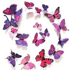 Anself 12pcs 3D Removable Butterflies Wall Decals Magnet Wall Art Mural Stickers DIY Wallpapers For Home Decoration Anself http://www.amazon.com/dp/B0111MPXEI/ref=cm_sw_r_pi_dp_HvM4wb07CTBP1