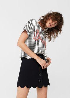 Camiseta bordado decorativo | MANGO