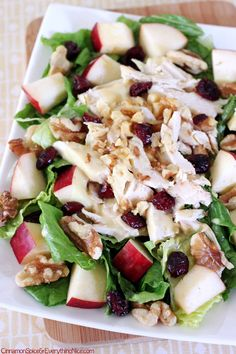 Cranberry Apple Chicken Salad w/ Honey Mustard Dressing