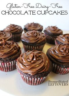 This Gluten-Free Chocolate Cupcakes Recipe is also Dairy-Free, Soy-Free, and corn-free. These gluten-free chocolate cupcakes have a rich chocolate flavor!