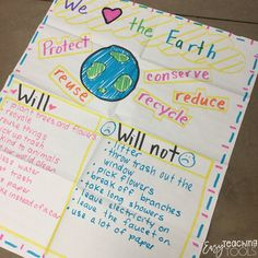 Earth Day in the Elementary Classroom - Easy Teaching Tools 2nd Grade Classroom, Science Classroom, Classroom Ideas, Classroom Activities, Real Teacher, Teaching Tools, Teaching Ideas, Teaching Materials, Teaching Resources