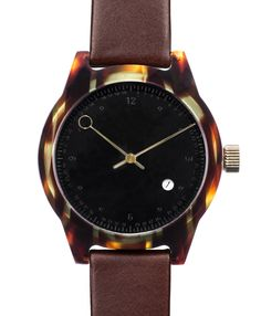 Squarestreet – SQ03 Minuteman Two Hand B-13 Army Tortoise (Embossed Dial & Dark Brown Strap)