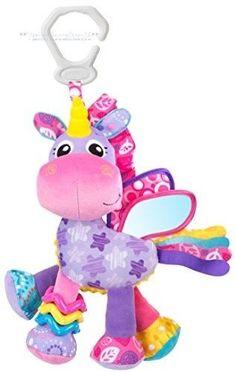 22ed02fa2e7906 Baby Activity Toy Unicorn Infant Girl Sensory Play Plush Developmental  Carseat #Playgro